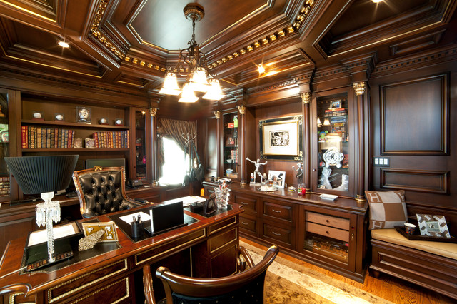 Elegant home office traditional home office - Elegant office home design ...