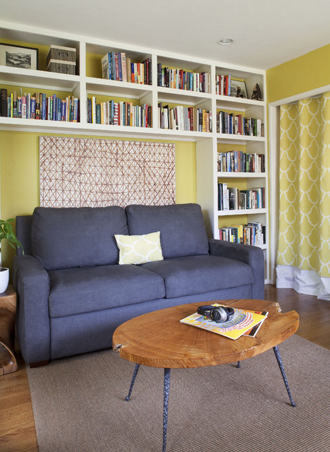 Library Office transitional-home-office