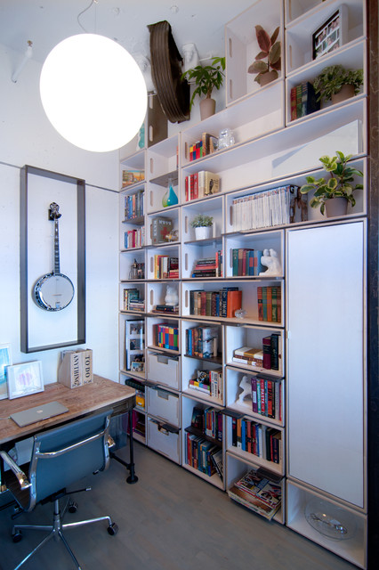 library shaft modern home office