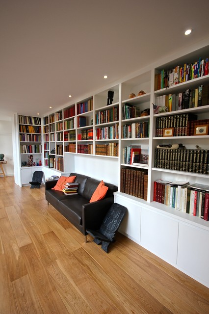 Library Shelving Contemporary Home Office London