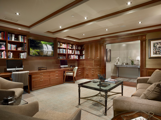 Library Study Traditional Home Office Philadelphia By Carmana Designs Ltd