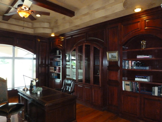 Library Study Upstairs Traditional Home Office