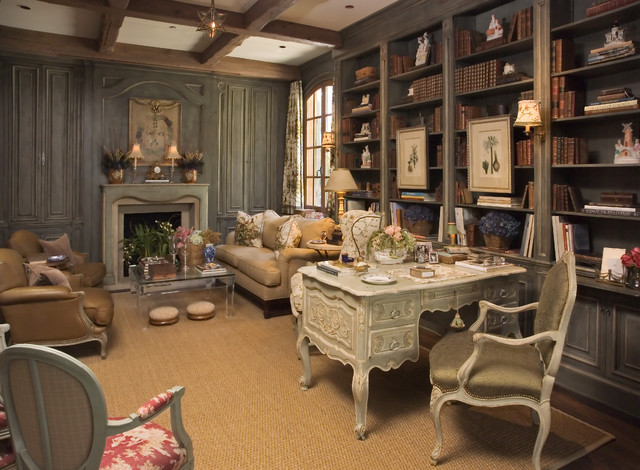 lifestyle house traditional home office and library - Traditional Home Office