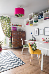 This Office is a Craft Room Too. See How She Set It Up