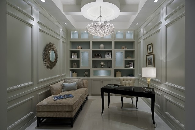 Lighthouse Interiors Contemporary Home Office Miami
