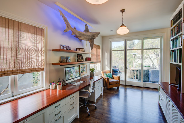 Eclectic home office photo in San Francisco