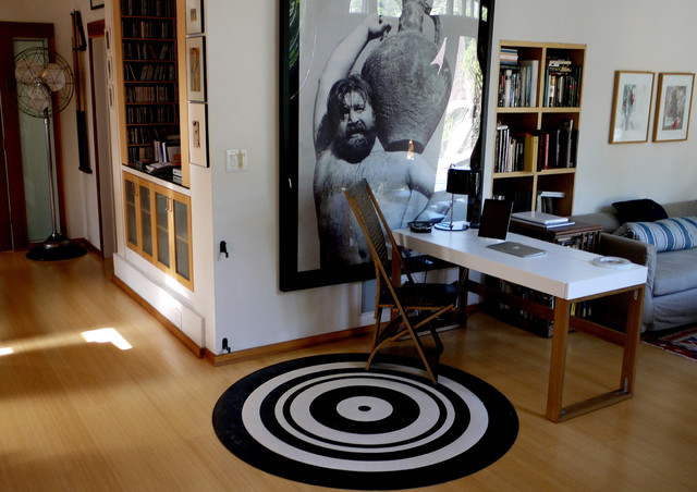 contemporary home offices designs with rugs floor | Linoleum Circle rug - Modern - Home Office - los angeles ...