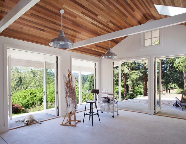 little green art studio transitional sunroom san. Black Bedroom Furniture Sets. Home Design Ideas