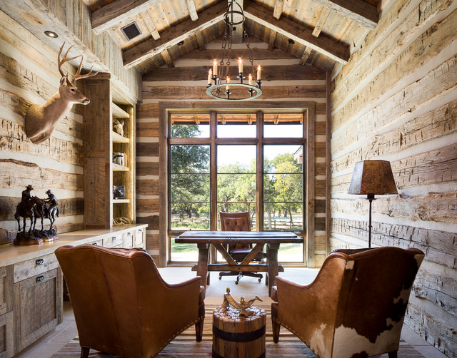 Llano Ranch Rustic Home Office Austin By Cornerstone Architects