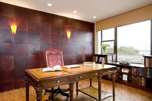 Leather Tile Wall Panelling
