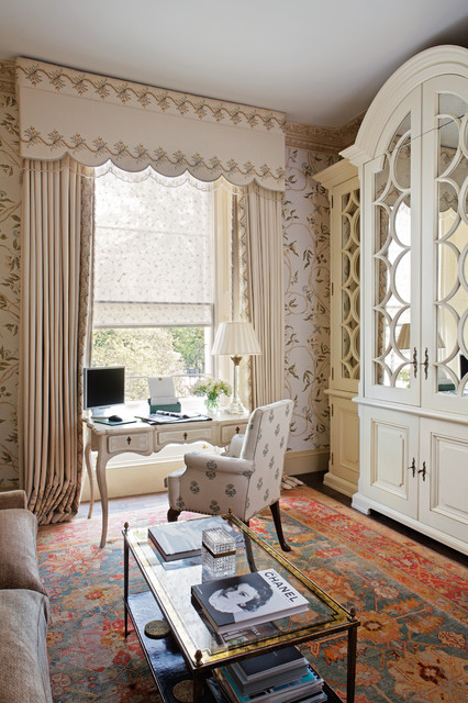 London townhouse mews traditional home office for Aik sing interior decoration contractor