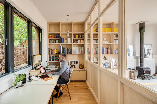 How to maintain privacy in your open concept home for Living office concept