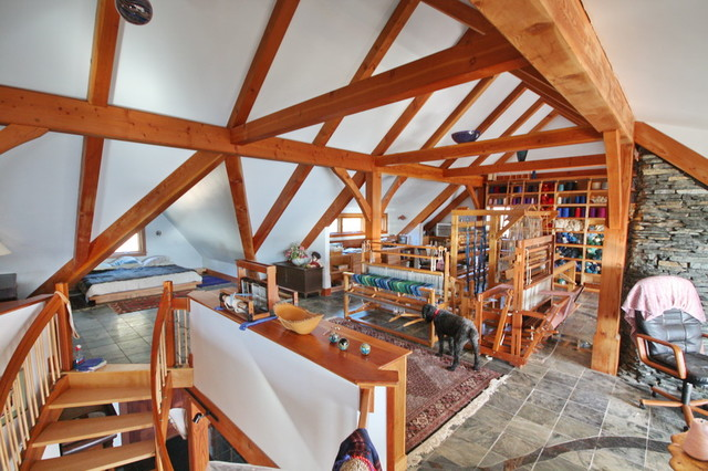 Lookout Rustic Home Office Portland Maine By