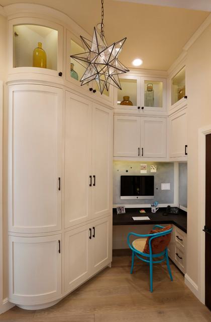 Los Altos Hills Fun Basement transitional-home-office