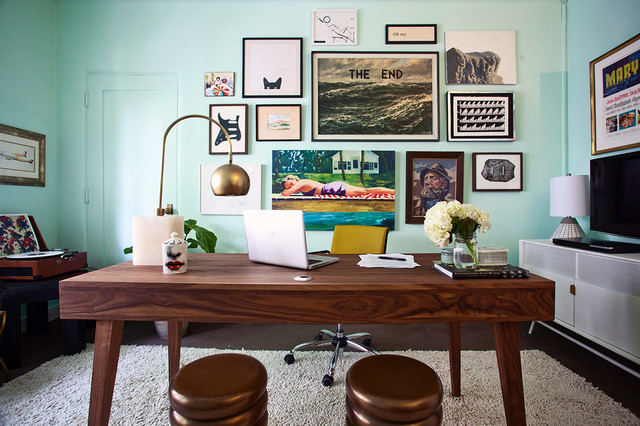 Los Angeles Office Midcentury Home Office Los Angeles By Homepolish