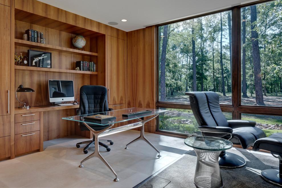 Trendy freestanding desk home office photo in Dallas