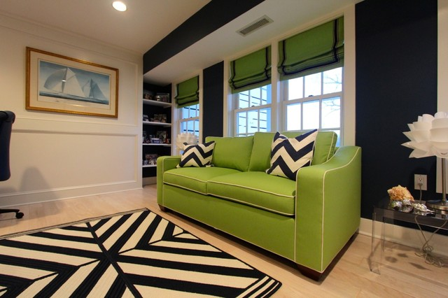 Lower Level Remodel contemporary-home-office