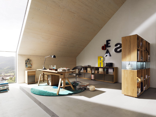 Lux home office contemporary home office & library london by