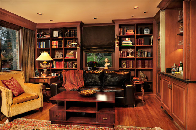 Lynnwood Kitchen Study Traditional Home Office