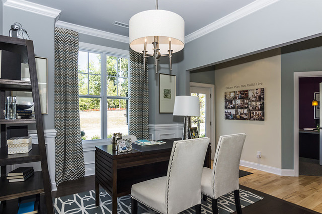 M/I Homes of Raleigh: Overlook At Amberly - Hawthorne Model transitional-home-office
