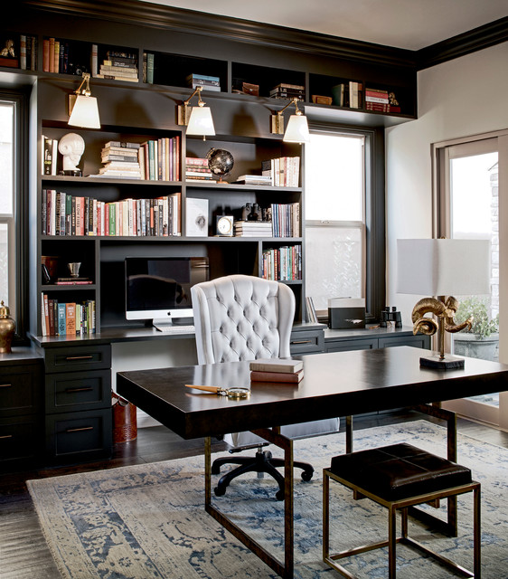 Maison Noir - Traditional - Home Office - San Francisco - by ... on unusual home offices, sensational home offices, teal blue home offices, luxurious home offices, pretty home offices, interesting home offices, old style home offices,