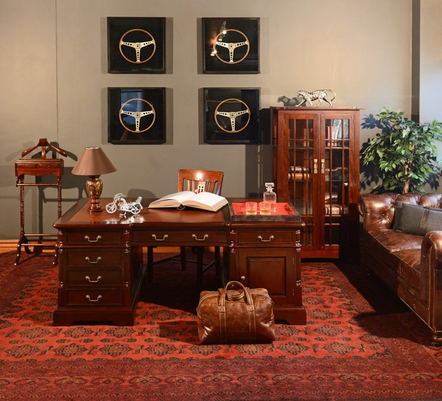 Man Cave traditional-home-office