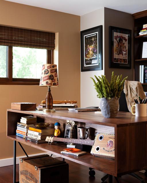 Masculine Office Window Treatments