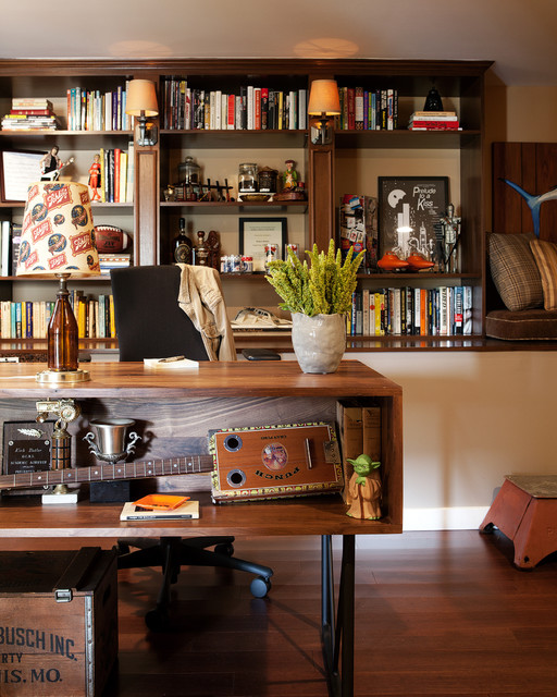 Man Cave Desk Ideas : Man cave home office eclectic los