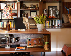 Man Cave Home Office eclectic-home-office