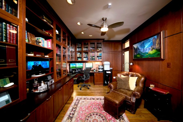 man cave office traditional home office dc metro. Black Bedroom Furniture Sets. Home Design Ideas
