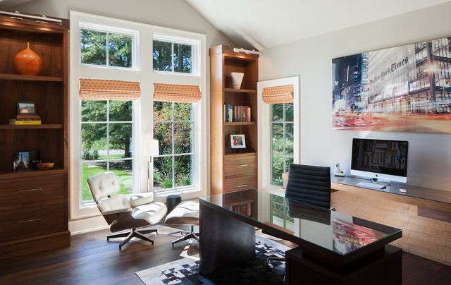 Manchester Hills Transitional Home Office Grand