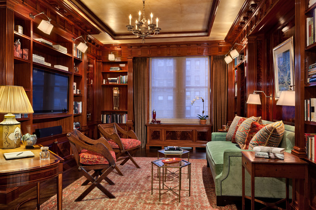 Manhattan Apartment Inspired By The Federal Style Traditional Home Office New York By