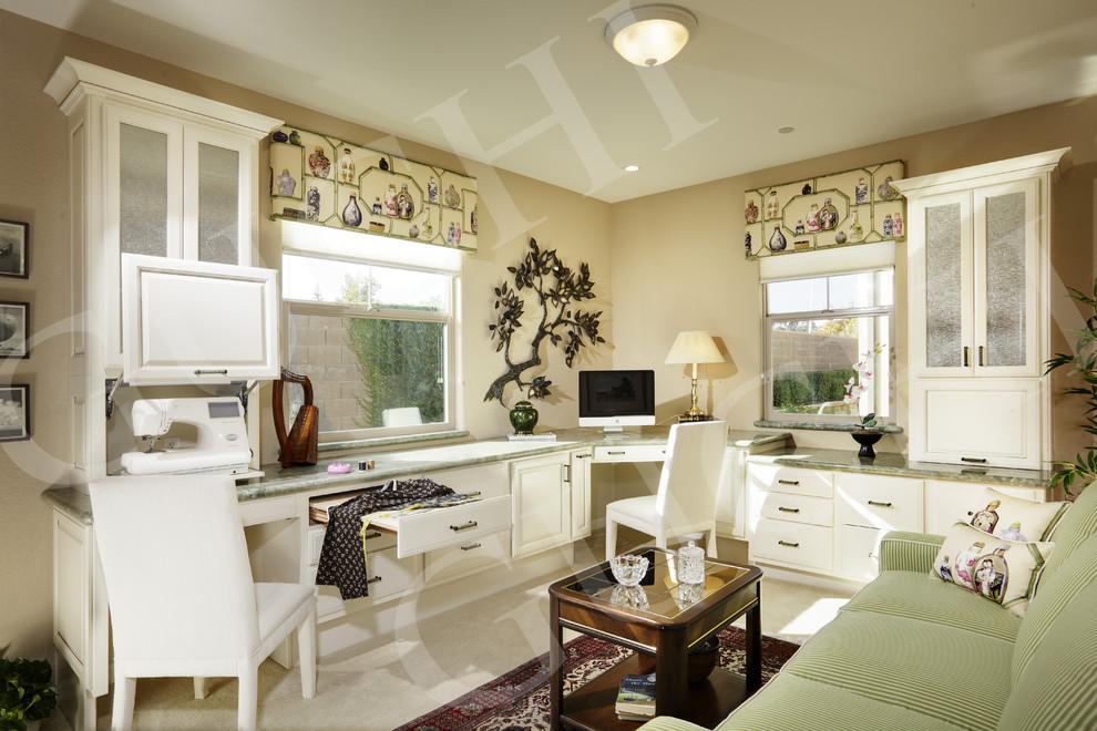 Home office - asian home office idea in Sacramento
