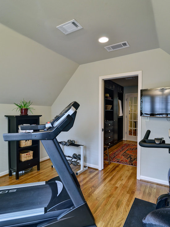 Small exercise room home office design ideas pictures for Small exercise room