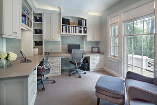 L-shape home office design