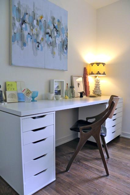 matt mary emma hawthorne midcentury home office dallas by sarah greenman. Black Bedroom Furniture Sets. Home Design Ideas