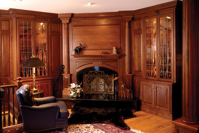 Matteo Library Den Traditional Home Office New