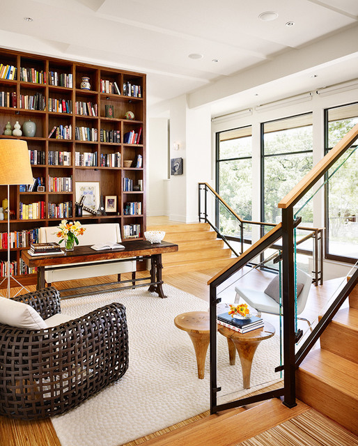 Modern Home Library Design Ideas: Matthews Library 2