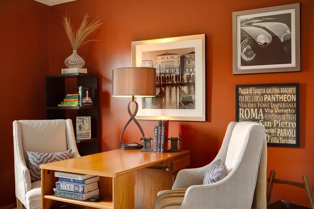 McCroskey Interiors - Kansas City contemporary-home-office