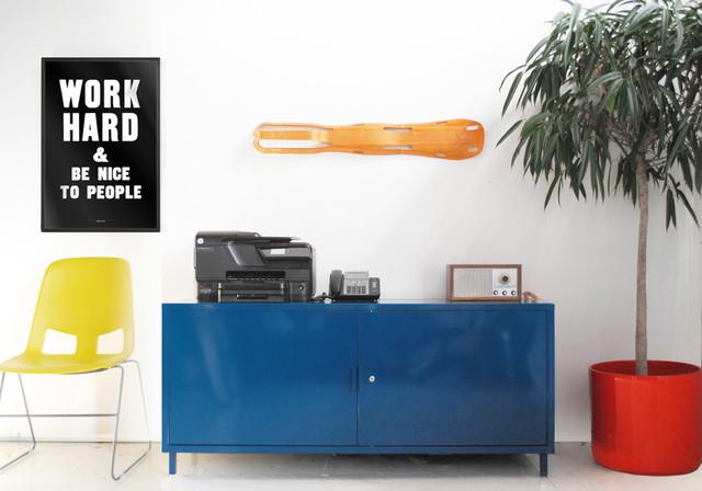 media credenza modern home office blue modern home office