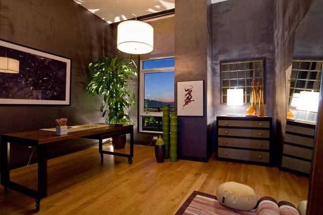 Meditation Room Contemporary Home Office Library Portland