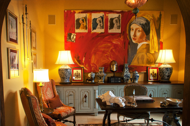 Mediterranean eclectic-home-office
