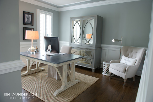 Inspiration for a timeless home office remodel in Atlanta