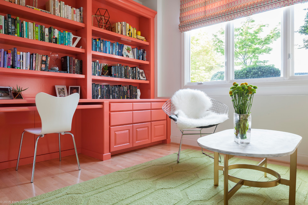 Inspiration for a contemporary home office remodel in Seattle