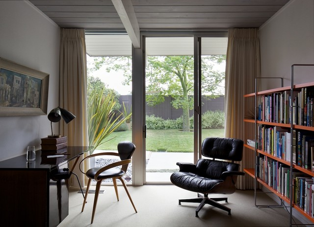 Mid-century home office space modern-home-office