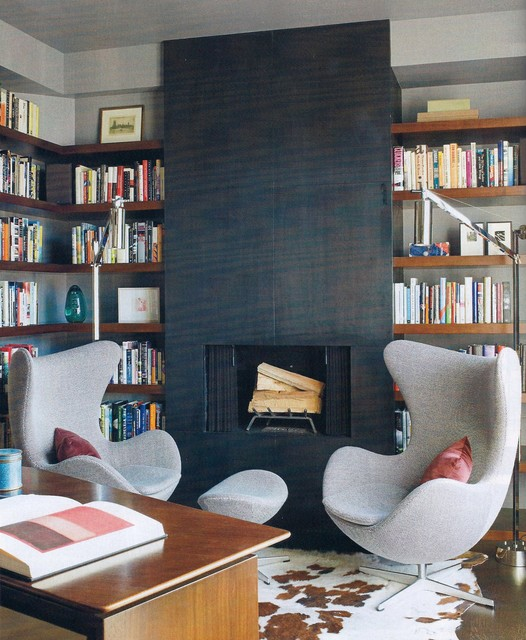 Modern Home Library Design Ideas: Mid Century Modern Furniture