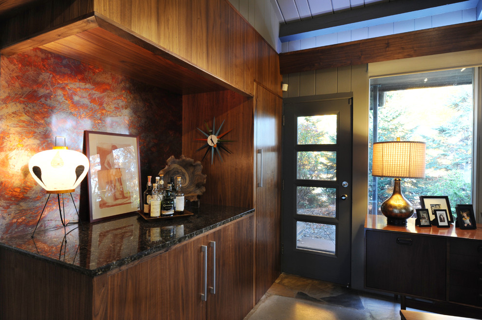 Home office - 1950s home office idea in Minneapolis