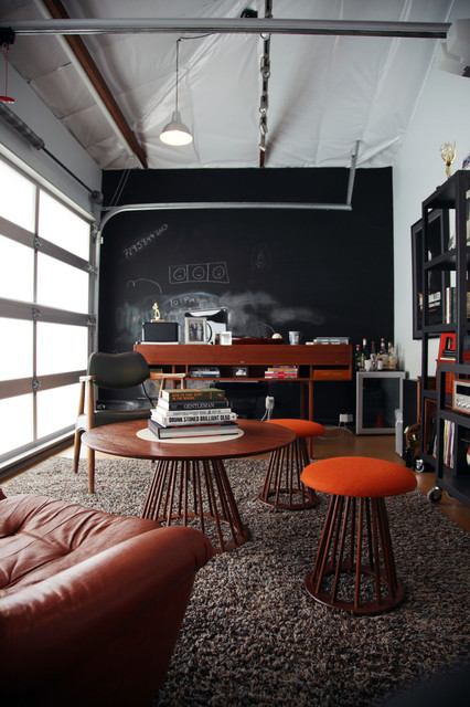Mid Century Silverlake Ca Industrial Home Office
