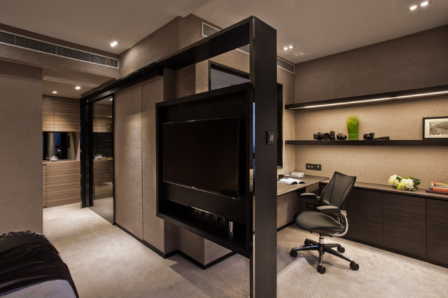 Mid Levels East Contemporary Home Office Hong Kong