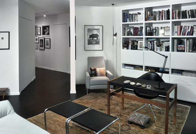 Mies Van Der Rohe Condo Modern Home Office Chicago